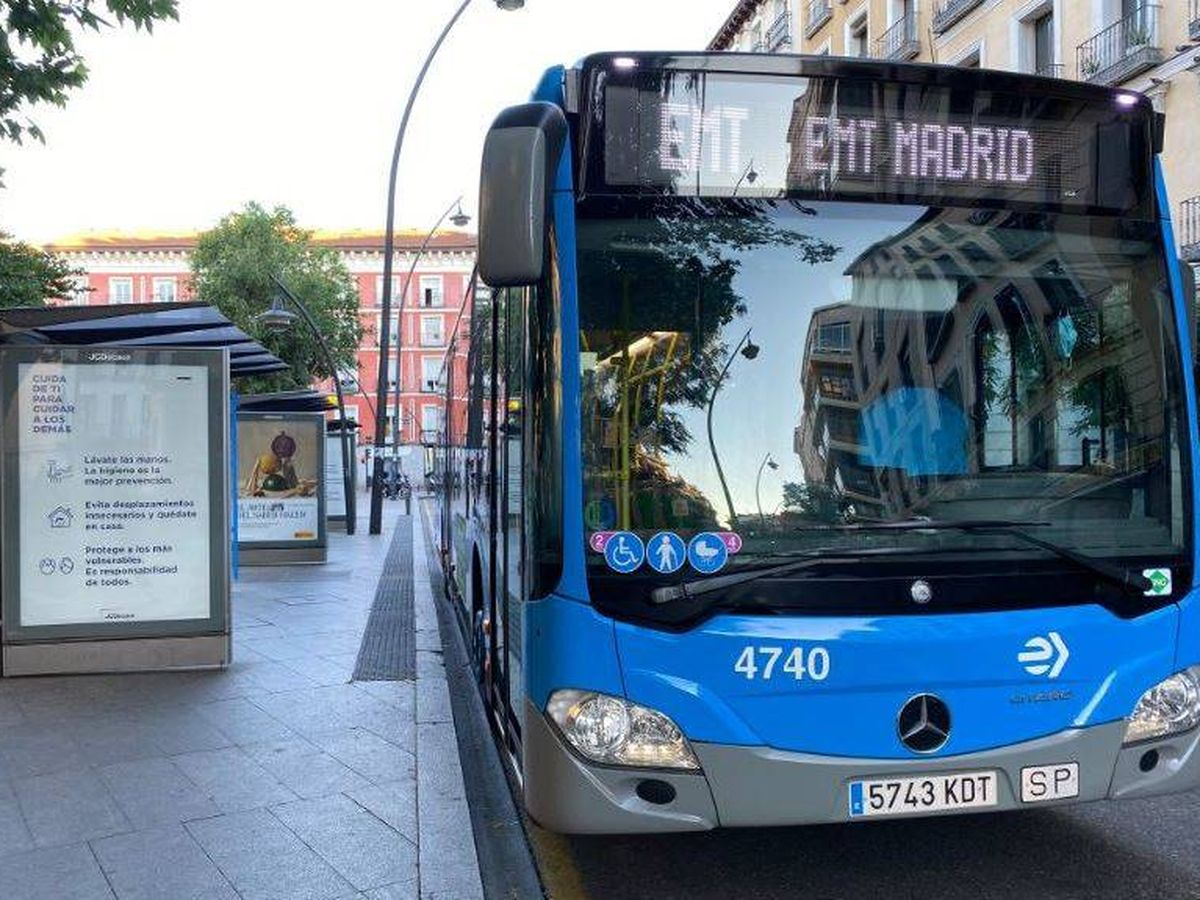 Foto: Autobús de la EMT de Madrid.