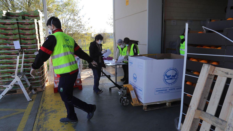 El Banco de Alimentos recibe 2 millones de la Caixa, la mayor donación del covid-19