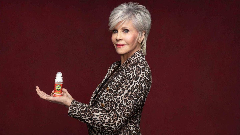 Jane Fonda, en una imagen de campaña de Uncle Bud's CBD. (Cortesía)
