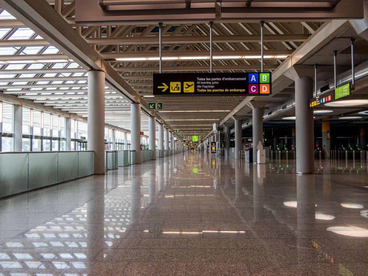 Foto: El aeropuerto de Palma de Mallorca en mayo (EFE)