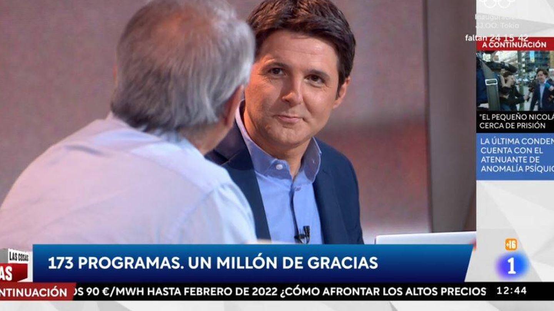 Jesús Cintora habla con Javier Aroca en 'Las cosas claras'. (RTVE)
