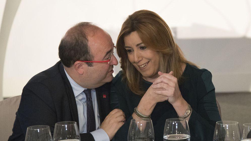 Foto: Susana Díaz junto a Miquel Iceta. (EFE)