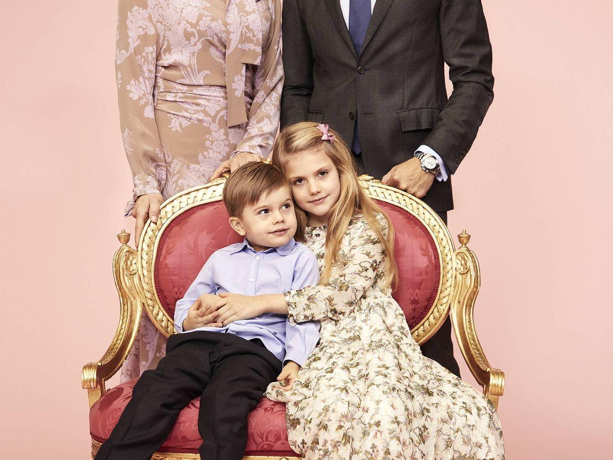 Foto: Los príncipes herederos. (Kungahuset)