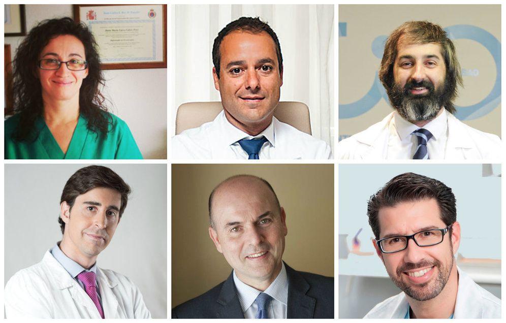 Foto: De izq. a dch., los doctores Pons, Magarzo, Meana, Aso, Oliveros y Pascual.