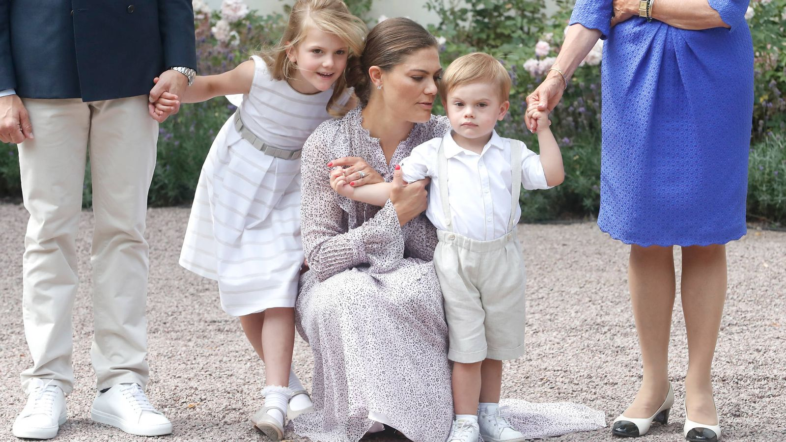 Foto: La princesa junto a Estelle y Oscar. (Getty)