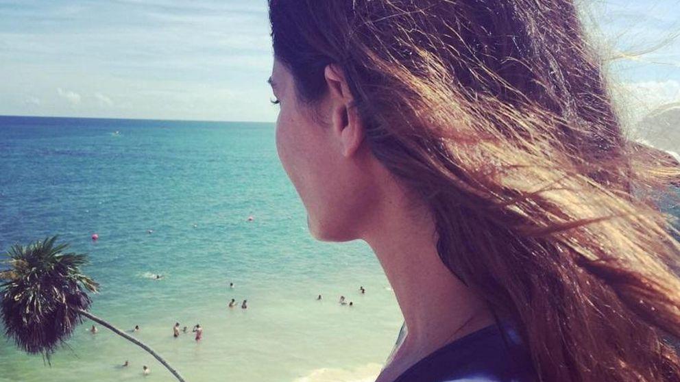 María José Suárez y su salto a lo 'Mira quien salta' en el Caribe mexicano