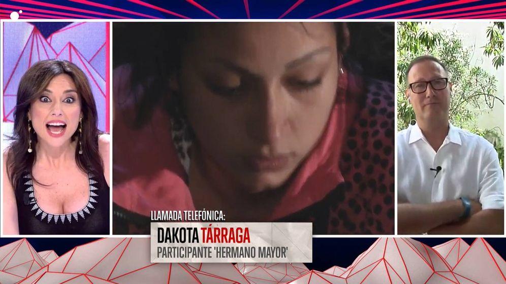 Foto: Dakota Tárraga y Pedro García Aguado, en 'Todo es mentira'. (Cuatro)