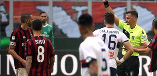 Post de Mientras aquí el Barça marca un gol ilegal, el VAR expulsa a Bonucci en Italia