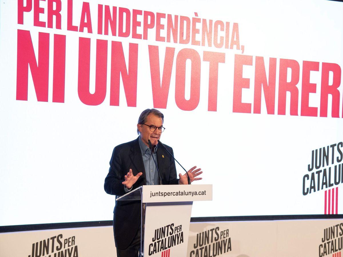 Foto: Artur Mas en un mitin de Junts per Catalunya. (EFE)
