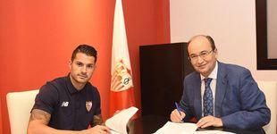 Post de Revés para el Atlético: el Sevilla renueva el contrato de Vitolo hasta 2022