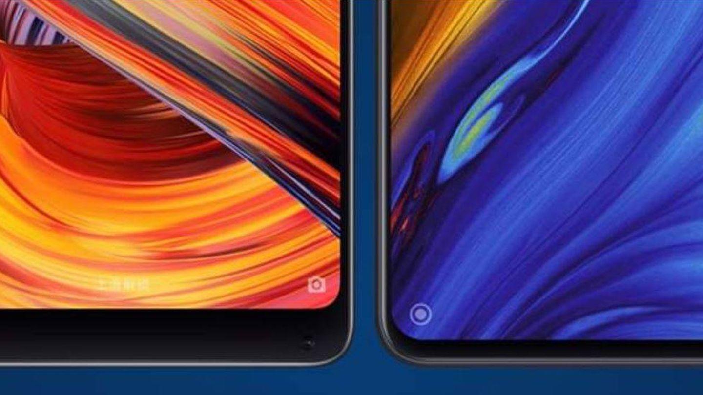 Evolución de marcos del Xiaomi Mi Mix 2S al Mi Mix 3. (Xiaomi)