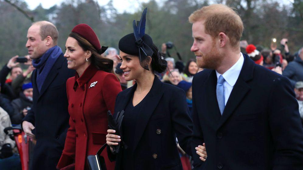 Foto: Los duques de Cambridge y Sussex. (Getty)