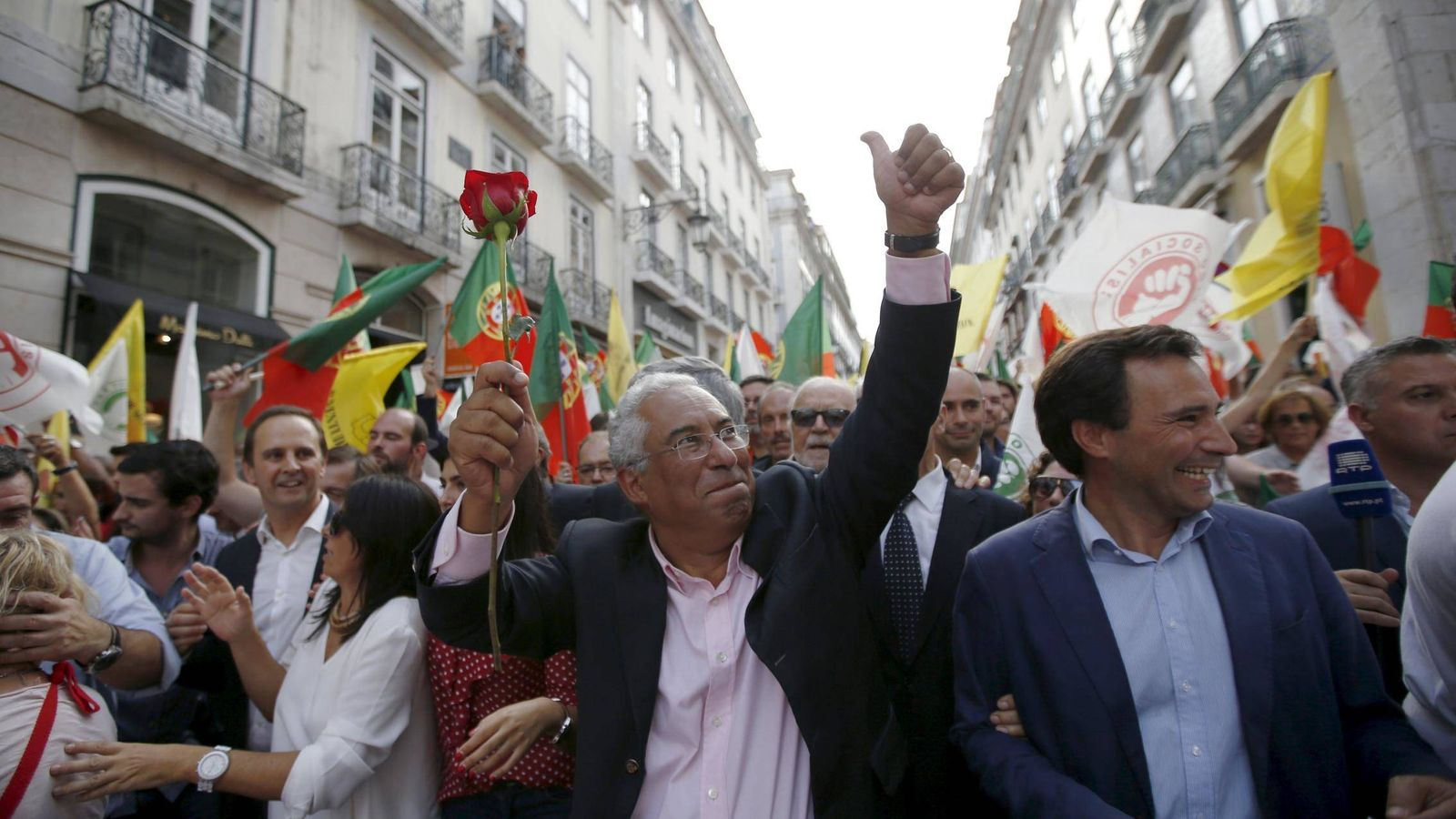 Foto: El socialista Antonio Costa durante en un evento electoral en Lisboa. (Foto: Reuters)