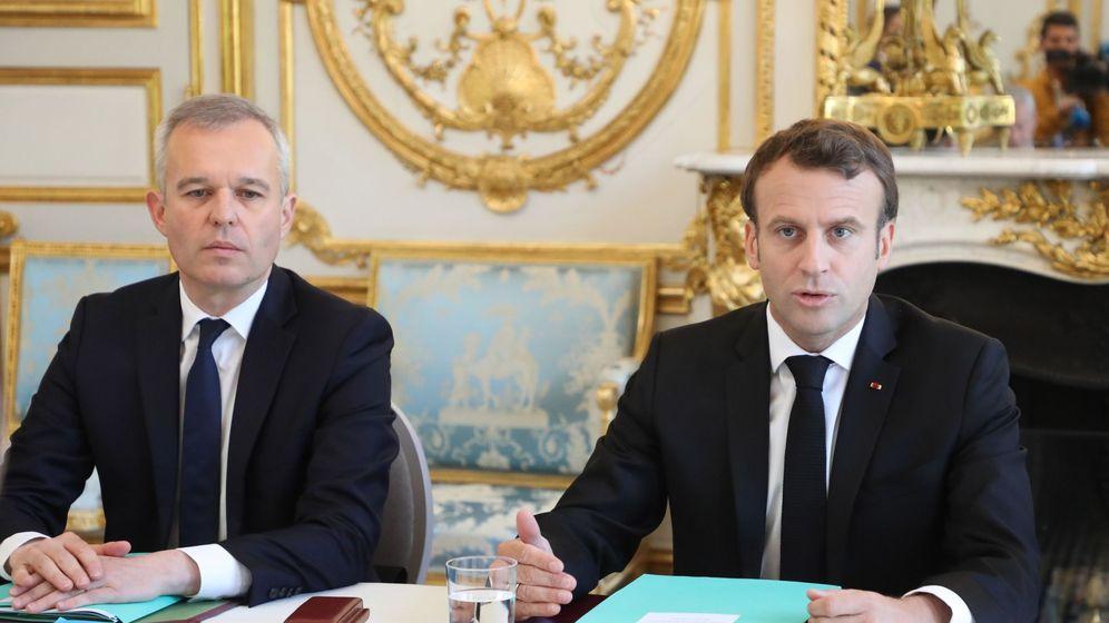 Foto: Emmanuel Macron, junto a François de Rugy. (EFE)