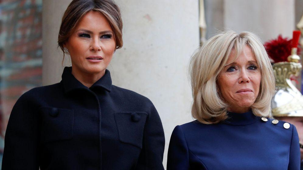 Foto: Melania Trump y Brigitte Macron. (Reuters)