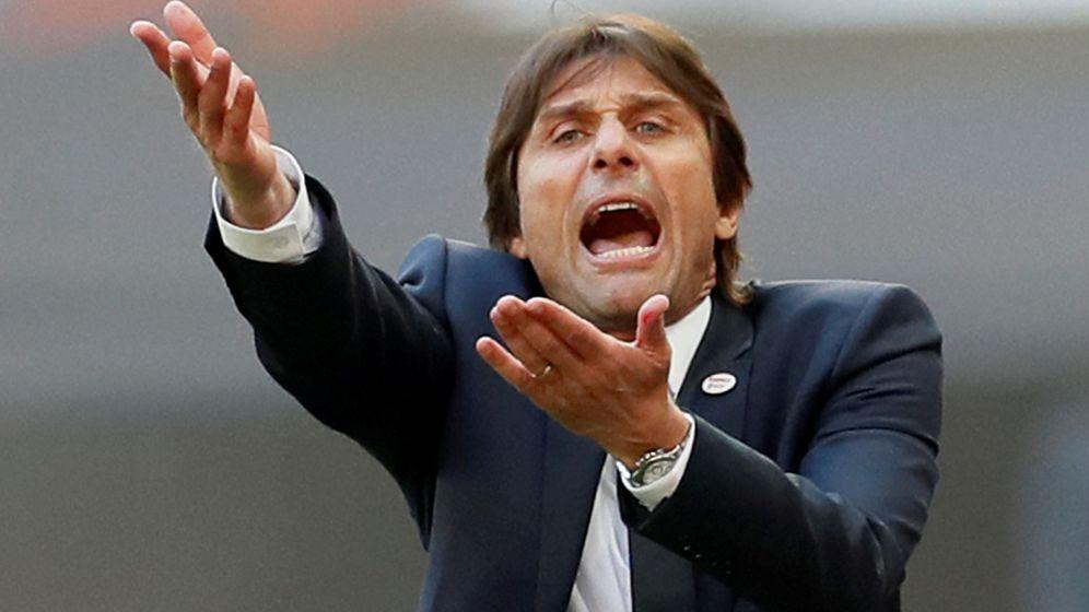 Foto: Antonio Conte dando instrucciones el pasado mes de mayo. (Reuters)