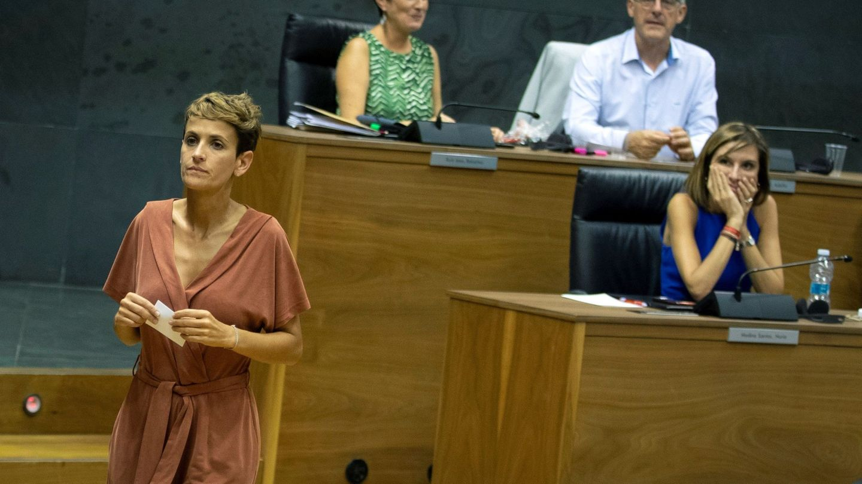 María Chivite durante la primera sesión de investidura, que resultó fallida. (EFE)