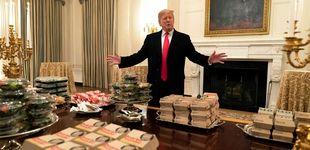 Post de Trump invita a cenar en la Casa Blanca a un equipo de fútbol: mil hamburguesas