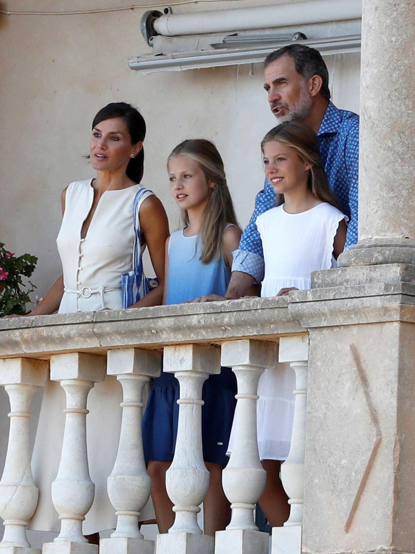 La familia real, en el museo de Son Marroig, en 2019. (Limited Pictures)