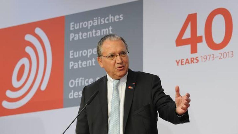 Foto: Benoît Battistelli, presidente de la Oficina Europea de Patentes. (EFE)