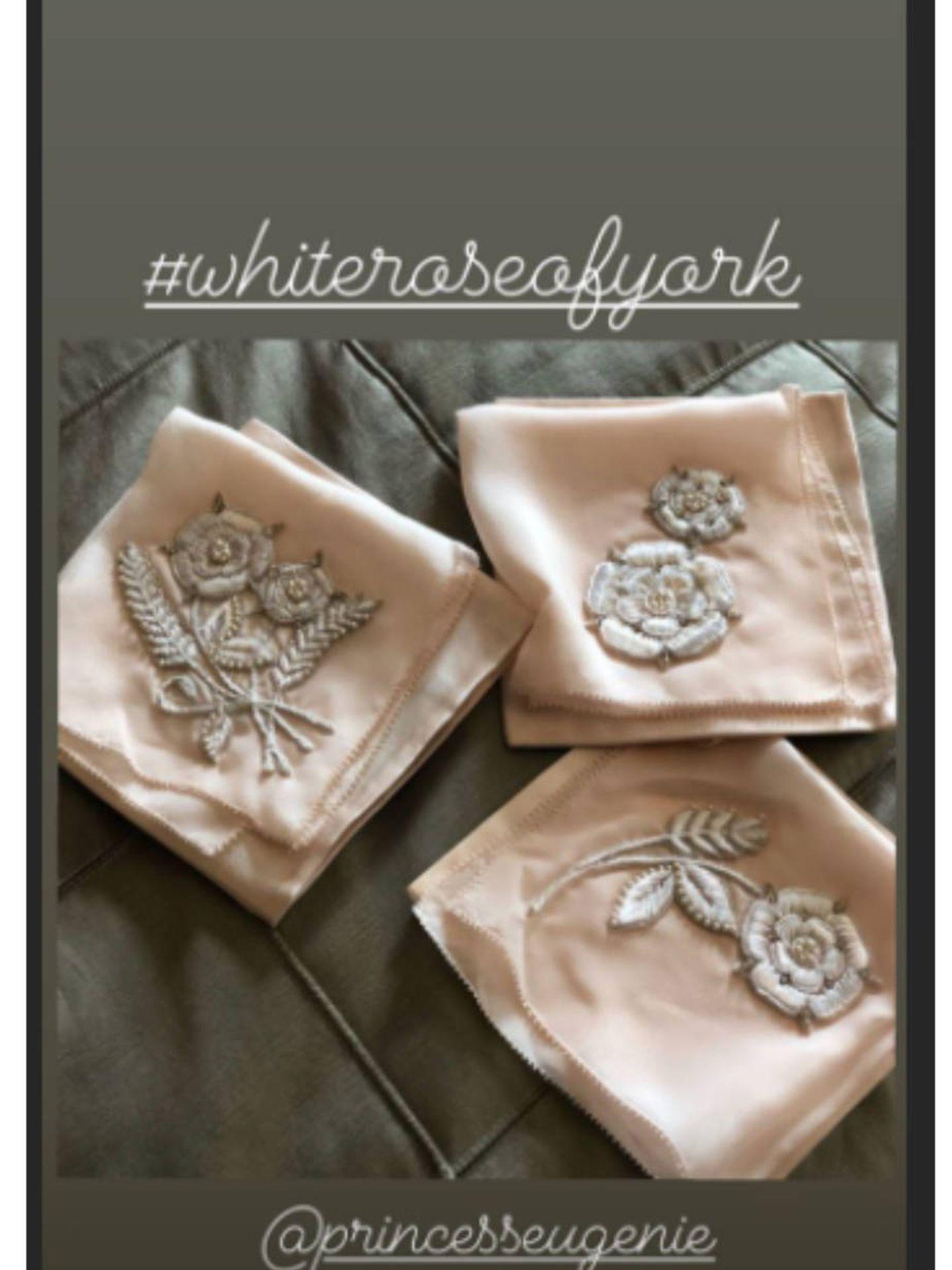 Pañuelos diseñados por Zac Posen para la boda de Eugenia de York. (Instagram @zacposen)