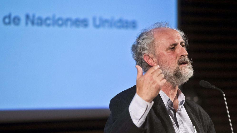 Foto: El coordinador general de Alcaldía, Luis Cueto, durante su intervención en un acto con motivo del Día Internacional de la ONU. (EFE)