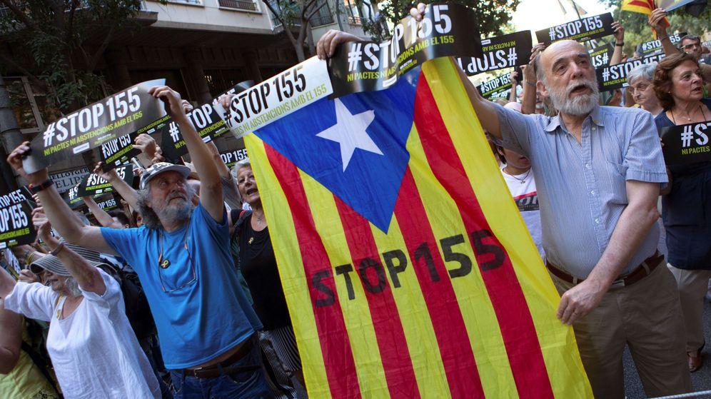 Foto: Concentración organizada por ANC en Barcelona. (EFE)