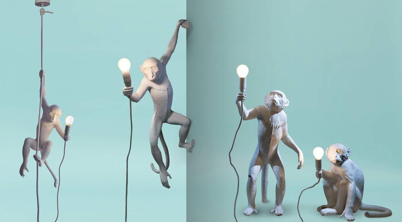 Foto: Los cuatro modelos de Monkey Lamp de Seletti (Foto: Cortesía Seletti)