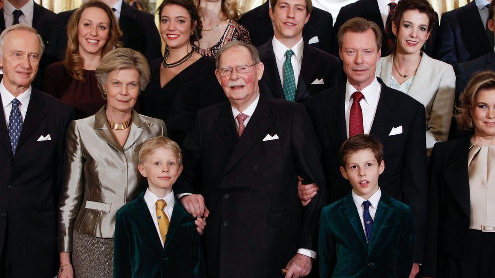 Foto: El gran duque Jean de Luxemburgo durante la celebración de su 95 cumpleaños. (EFE)