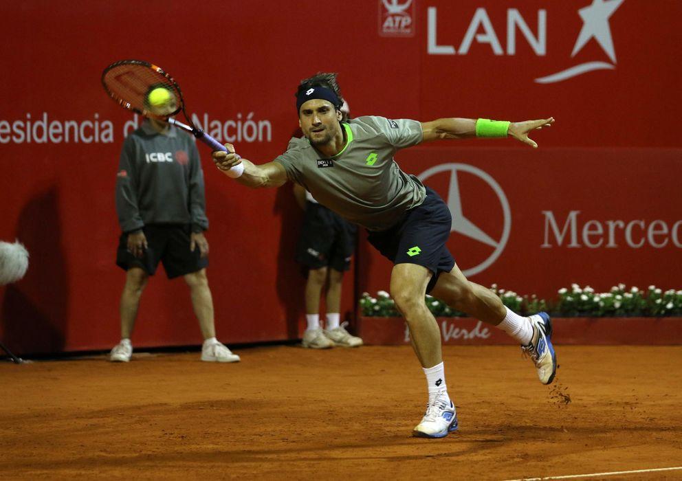 Foto: David Ferrer durante uno de los encuentros del Torneo de Buenos Aires. (Efe)