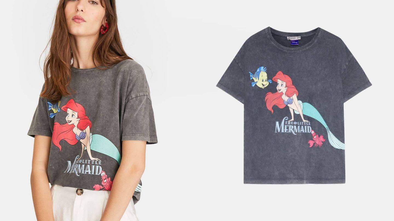 La camiseta de 'La Sirenita' de Stradivarius.