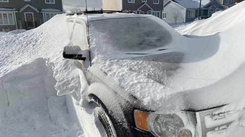Una gran nevada sepulta San Juan de Terranova bajo un manto blanco