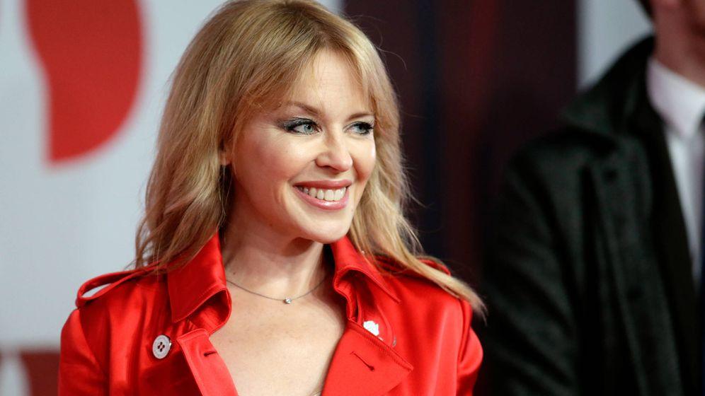 Foto: Minogue en la pasada edición de los Premios Brit. (Getty)