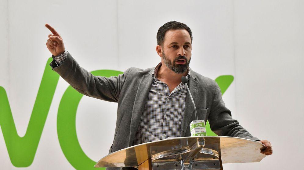 Foto: El presidente de VOX, Santiago Abascal, en un acto. (EFE)