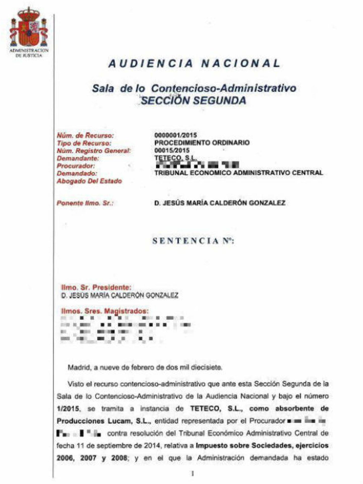 Una de las sentencias absolutorias de María Teresa Campos, a la que tuvo acceso Vanitatis.