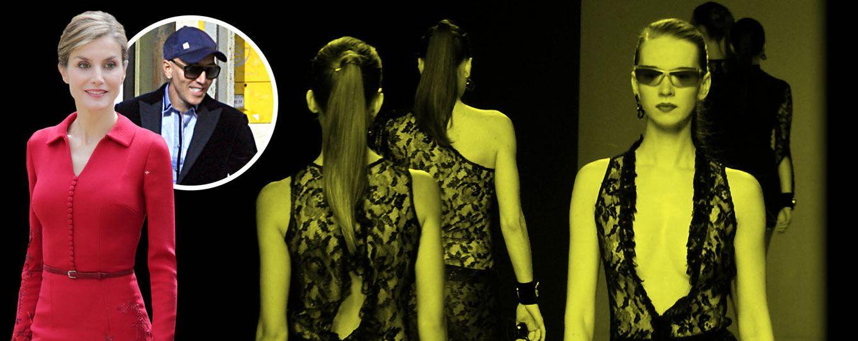 Foto: Doña Letizia junto a Felipe Varela y unas modelos en un fotomontaje de Vanitatis