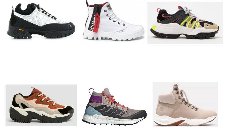 Coloridas y urbanas, así con estas zapatillas de montaña.