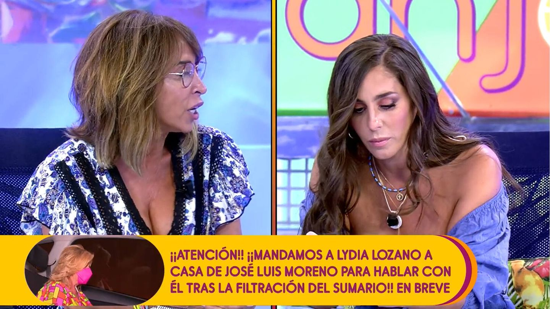 María Patiño se enfrenta a Anabel Pantoja. (Mediaset)