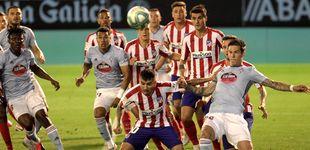 Post de Un Atlético relajado empata en Balaídos ante un buen Celta de Vigo (1-1)