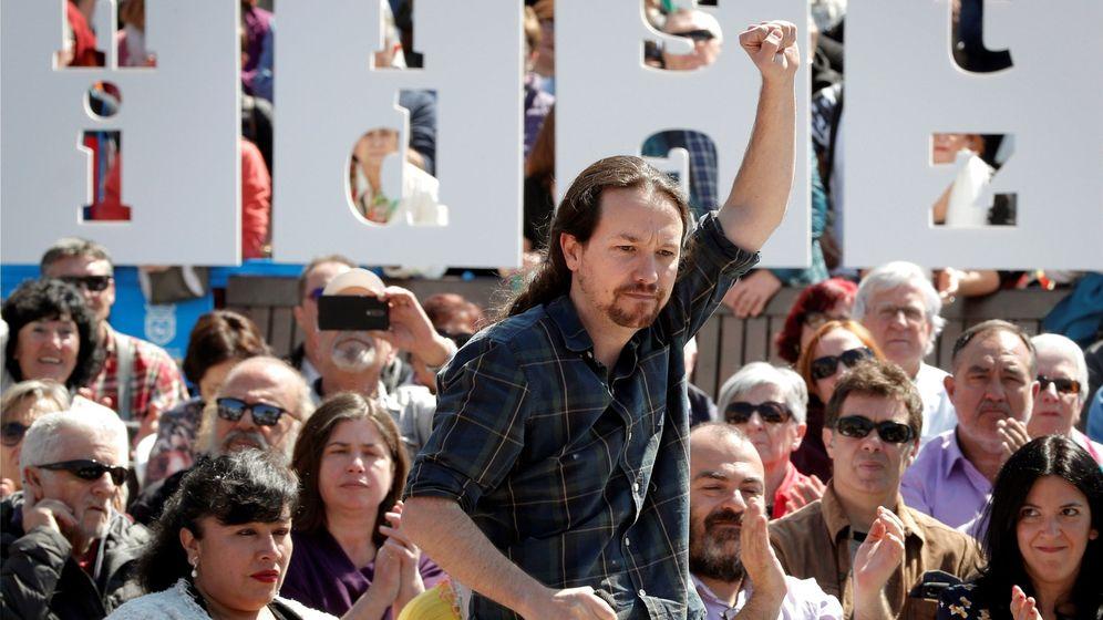 Foto: El secretario general de Podemos y candidato de Unidas Podemos a la presidencia del Gobierno, Pablo Iglesias, durante un acto electoral en Pamplona. (EFE)