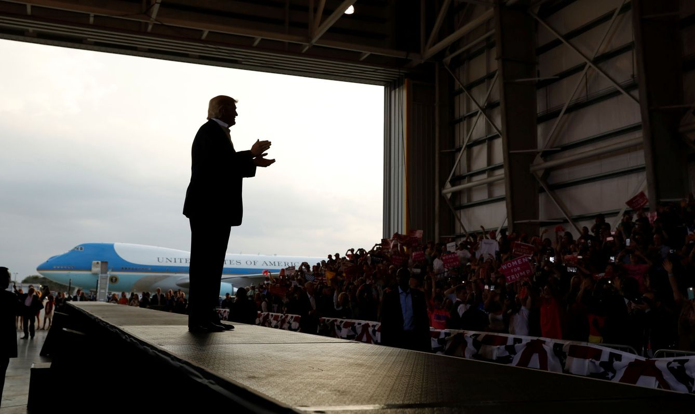 Foto: El presidente de EEUU, Donald Trump, durante un evento electoral en Melbourne, Florida, el 18 de febrero de 2017. (Reuters)