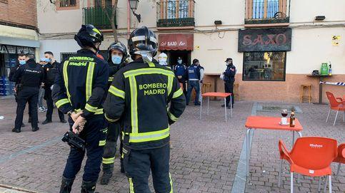 Cinco heridos, uno grave, por una explosión mientras reparaban una máquina en un bar de Madrid