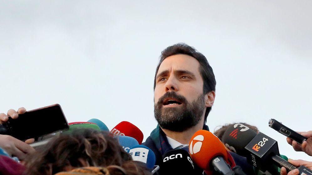 Foto: Roger Torrent, en su visita a los presos independentistas. (EFE)