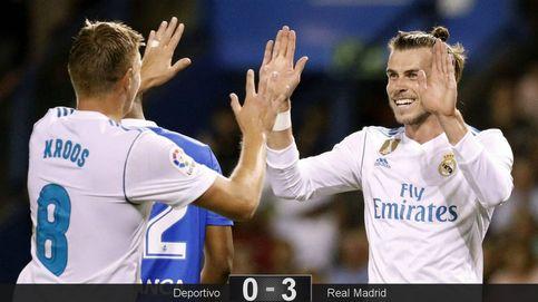 El Real Madrid sigue vestido con el traje de gala y explota sus virtudes en Riazor