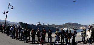 Post de Largas colas en Getxo para visitar el portaaviones Juan Carlos I