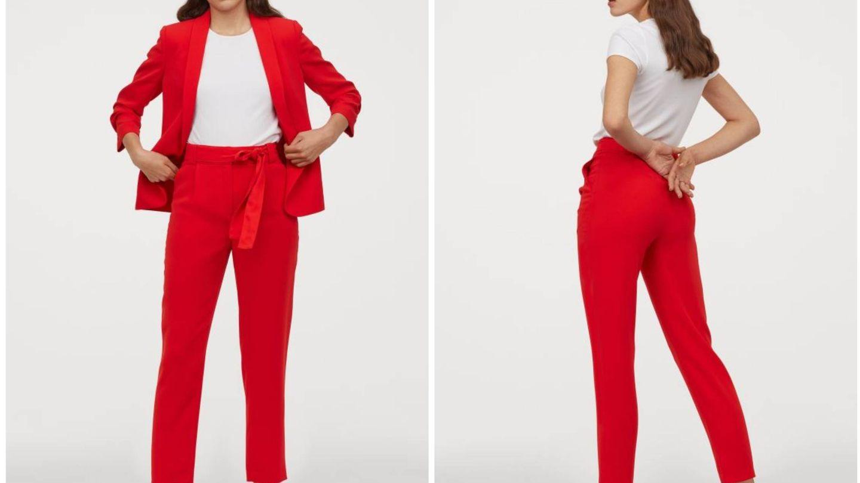Nuevo traje rojo de HyM. (Cortesía)