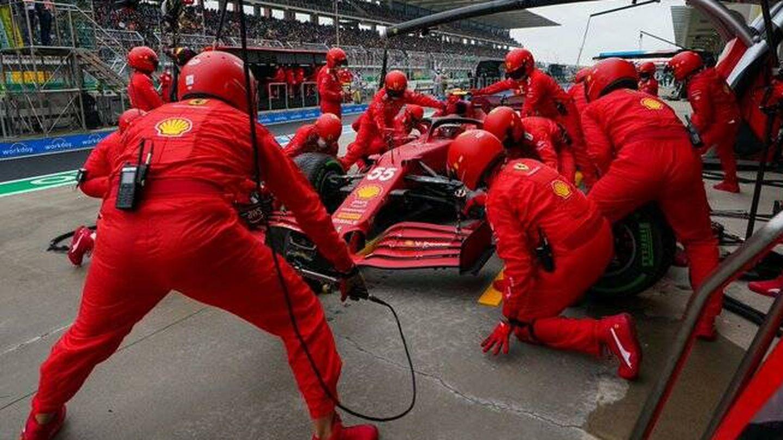 La remontada de Sainz confirmaba la evolución de Ferrari con su motor, aunque la parada en boxes frenara un mejor resultado