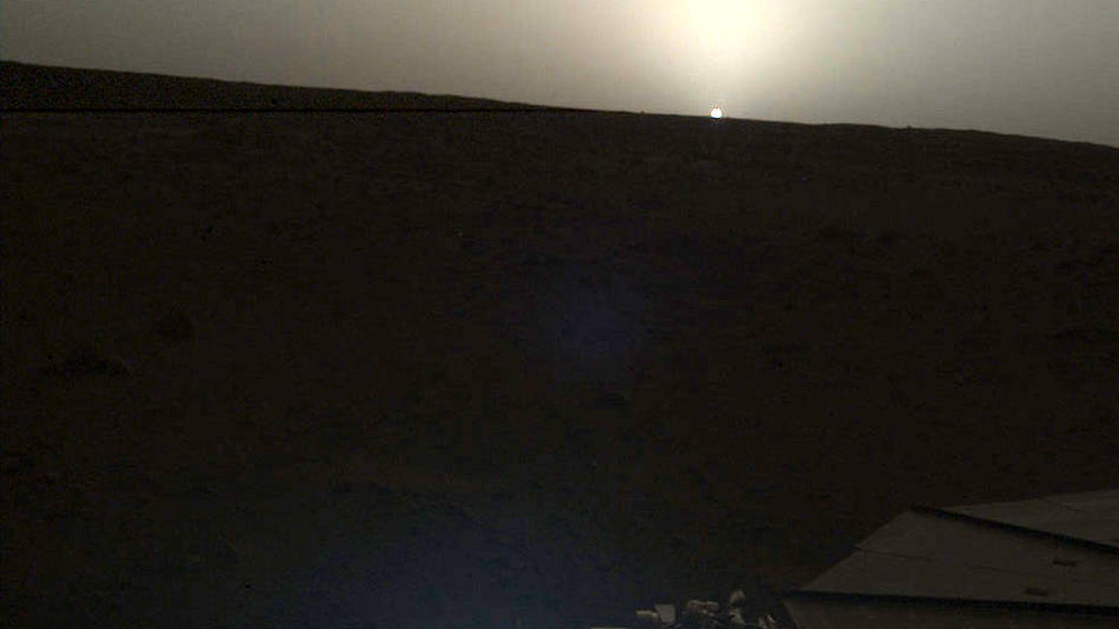 Foto: Imagen captada por la sonda InSight de la NASA