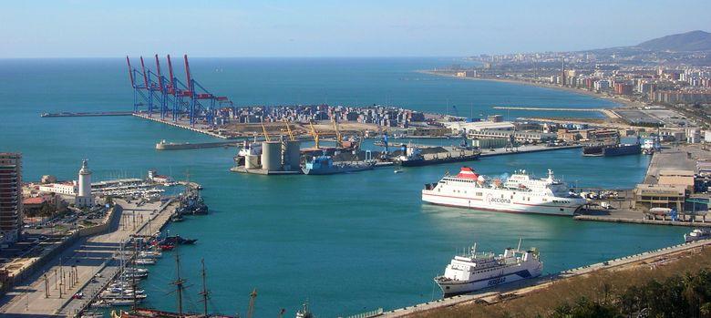Foto: Imagen del puerto de Málaga.