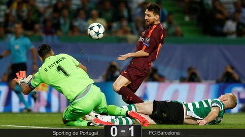 El Barcelona no juega mucho, pero tiene la eficacia para ganar al Sporting